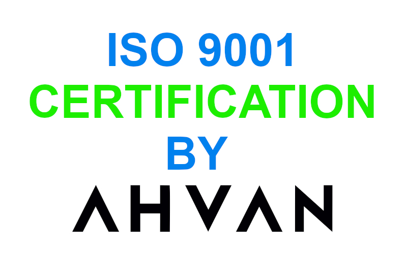 AHVAN ISO 9001 CERTIFICATION